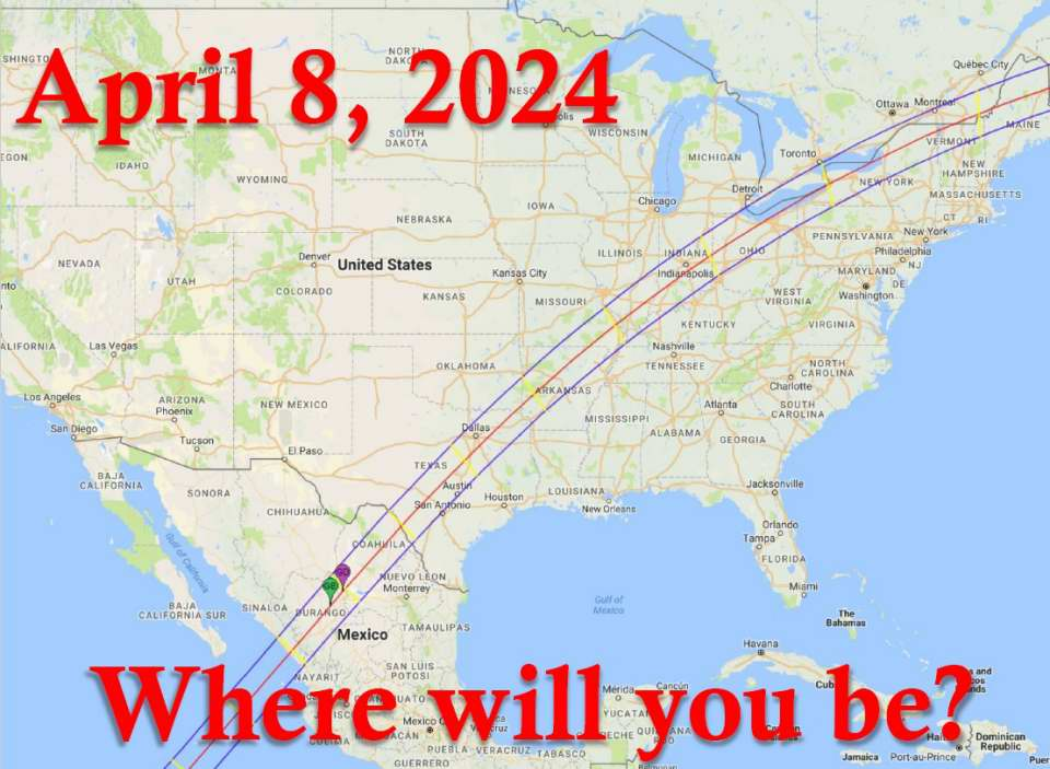 2024 Total Solar Eclipse totality path