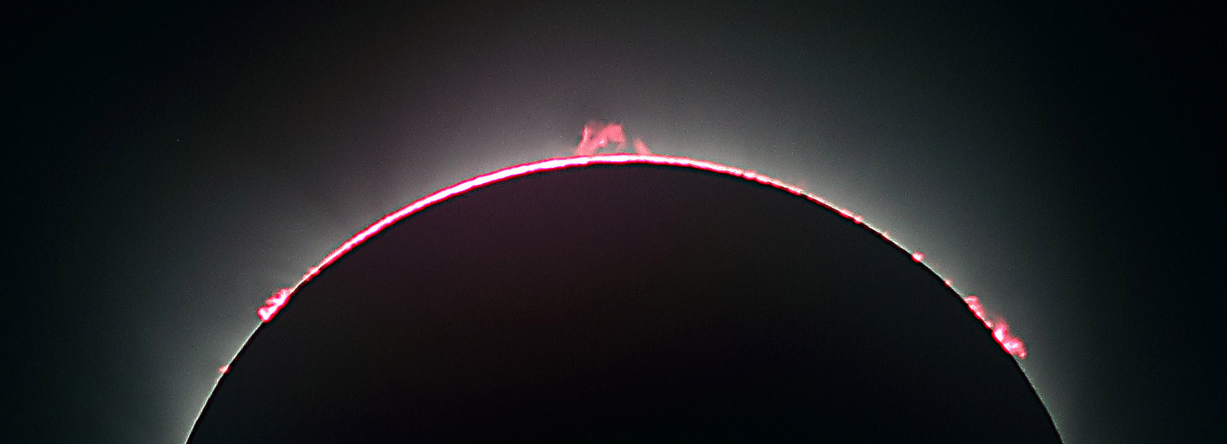 Solar Prominences during the 2017 Total Solar Eclipse by John Asztalos. MAS image.