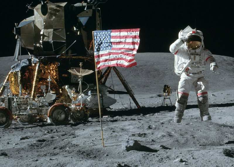 Man on the Moon. Apollo 17. NASA photo.