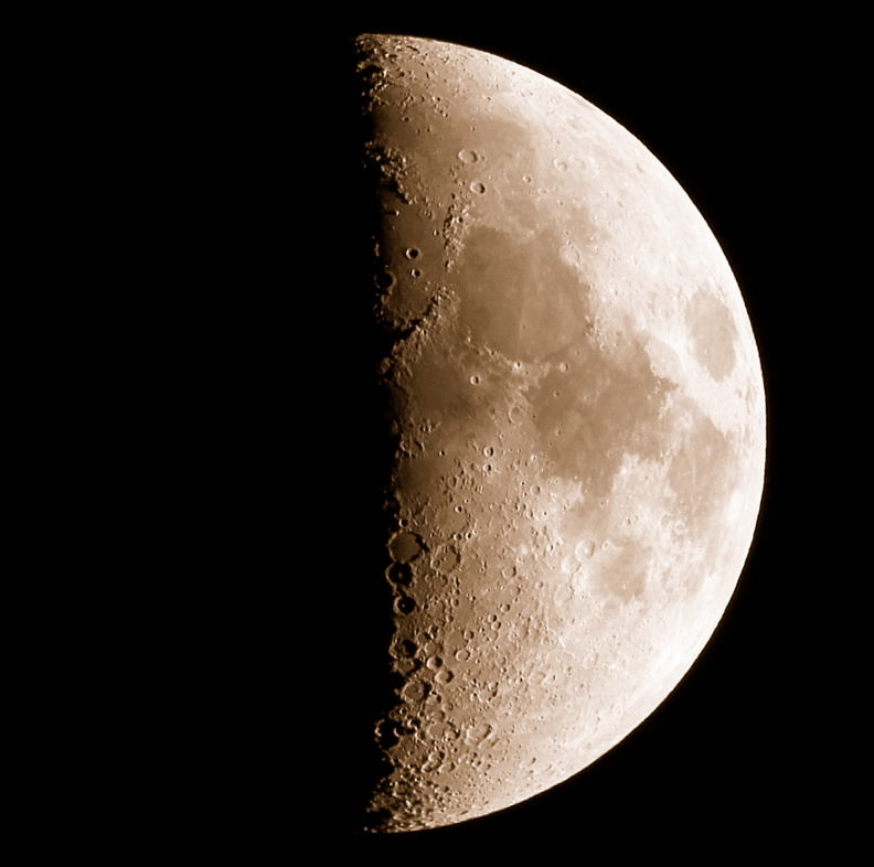 First Quarter Moon by John Asztalos - Milwaukee Astronomical Society image
