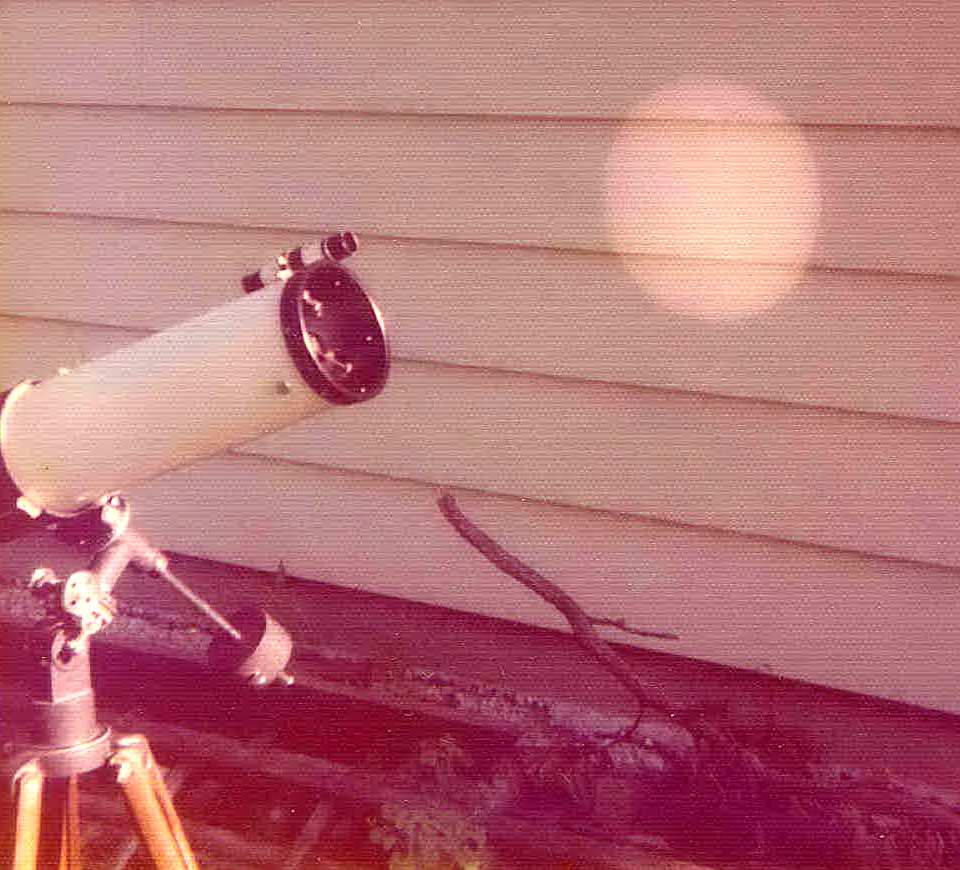 Sun projection on a wall. Milwaukee Astronomical Society image.