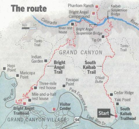 Grand Canyon Virtual Hike - Grand canyon location on us map